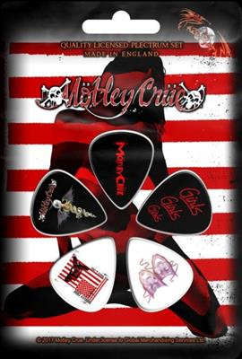 Motley Crue - Red. White & Crue Plekter 5 Pack