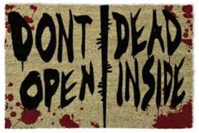 Walking Dead - Don't Open Dead Inside (Dørmatte)