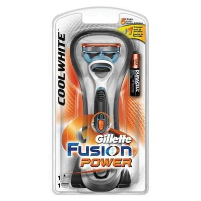 Gillette Fusion Cool White Power Startersett