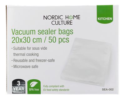 Vakuumposer 50-pack - 20x30cm Blanke - Nordic Home Culture