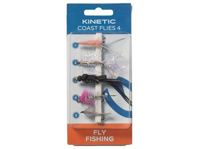Fluer - Kinetic Coast Flies 4 (5pk)